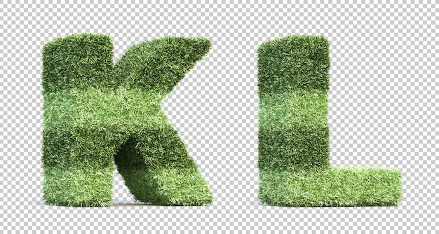 3d-рендеринг травы игрового поля алфавит k и алфавит l