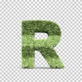 잔디 경기장 알파벳 r의 3d 렌더링