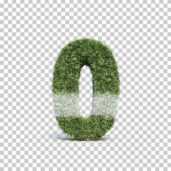 잔디 경기장 번호 0의 3d 렌더링