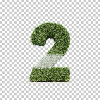 잔디 경기장 번호 2의 3d 렌더링