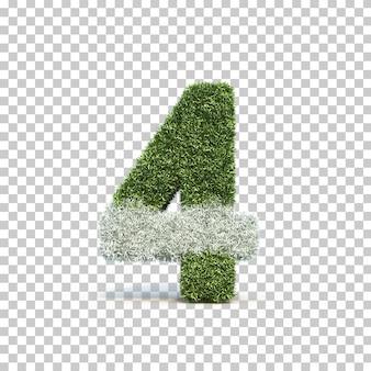 잔디 경기장 번호 3의 3d 렌더링