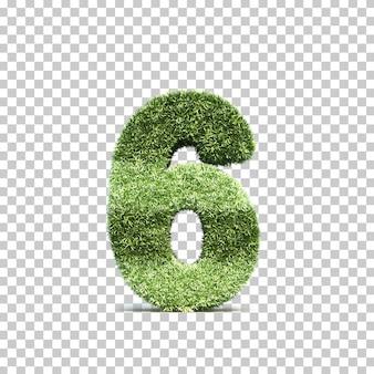 잔디 경기장 번호 6의 3d 렌더링