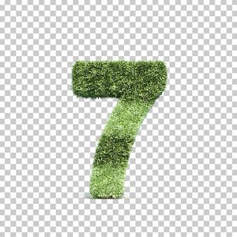 잔디 경기장 번호 7의 3d 렌더링