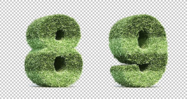 3d-рендеринг номеров игрового поля на траве
