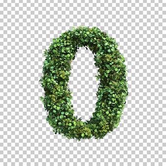 녹색 식물 번호 0의 3d 렌더링