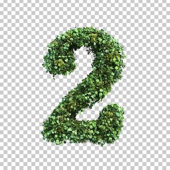 緑の植物数2の3 dレンダリング