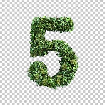 緑の植物番号5の3 dレンダリング