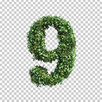 緑の植物番号9の3 dレンダリング