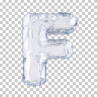 3d-рендеринг ледяного алфавита f