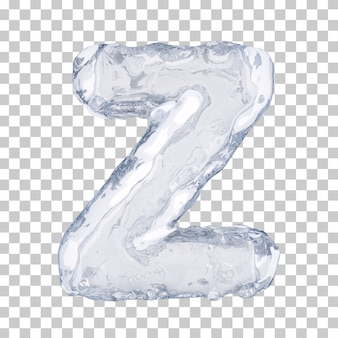 3d-рендеринг ледяного алфавита z