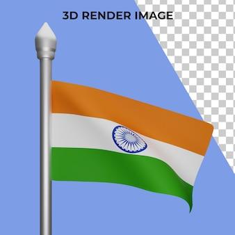 인도 국기 개념 인도 국경일의 3d 렌더링