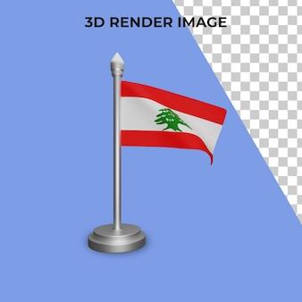 レバノンの国旗の概念の3dレンダリングレバノン建国記念日