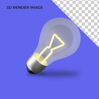 電球の3dレンダリング