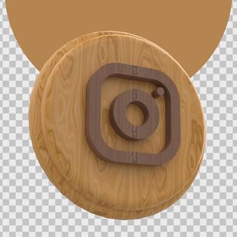 Instagramのロゴの3dレンダリング