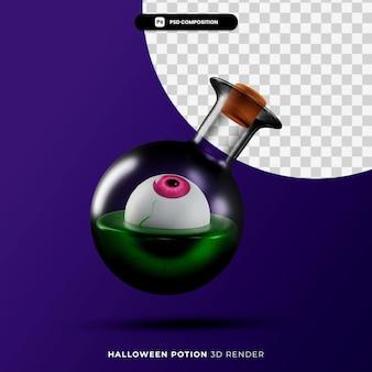 3d-рендеринг концепции хэллоуина волшебного зелья изолирован
