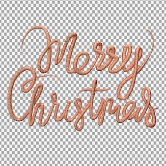 메리 크리스마스 글자의 3d 렌더링