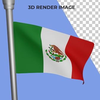 メキシコの旗の概念の3dレンダリングメキシコ建国記念日