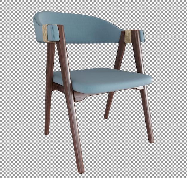 고립 된 미니멀리스트 의자 인테리어의 3d 렌더링
