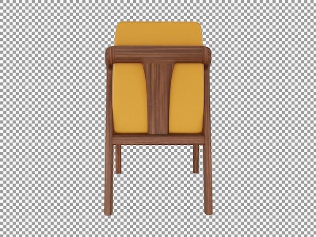 고립 된 미니멀 한 가죽 의자 인테리어의 3d 렌더링
