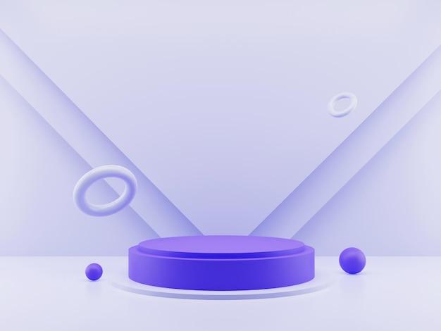 3d-рендеринг минималистского дисплея продукта или подиума