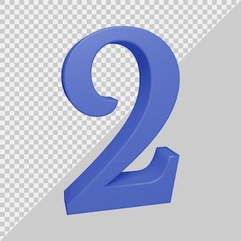 3d-рендеринг числа 2
