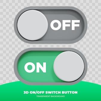 3d-рендеринг пользовательского интерфейса кнопки включения и выключения