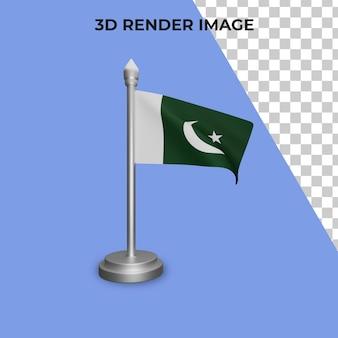 파키스탄 국기 개념 파키스탄 국경일의 3d 렌더링