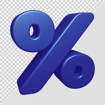 3d-рендеринг символа процента