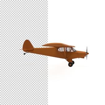 고립 된 비행기의 3d 렌더링