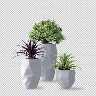 3d-рендеринг растений в горшках