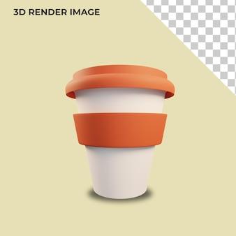 プラスチックカップの3dレンダリング