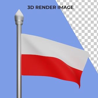 폴란드 국기 개념 폴란드 국경일의 3d 렌더링