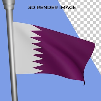카타르 국기 개념 카타르 국경일의 3d 렌더링