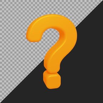 3d-рендеринг символа вопросительного знака
