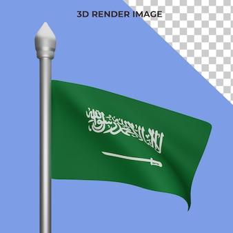 사우디 아라비아 국기 개념 사우디 아라비아 국경일 프리미엄 psd의 3d 렌더링