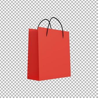 쇼핑백의 3d 렌더링