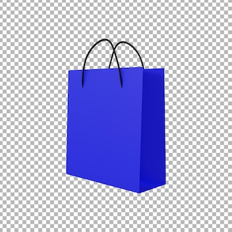 3d-рендеринг сумки для покупок