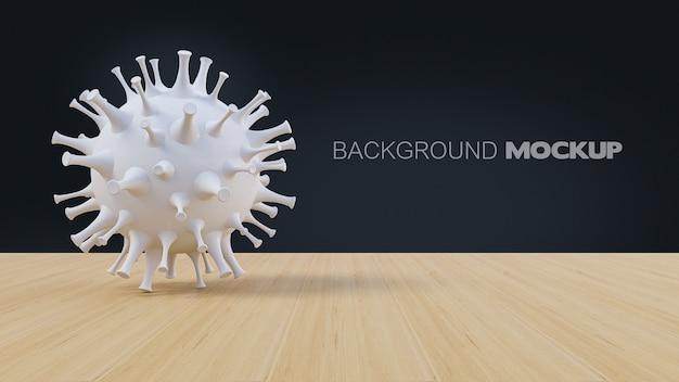 간단한 covid-19 바이러스 모델의 3d 렌더링