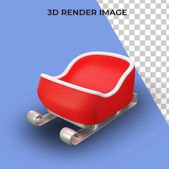 3d-рендеринг саней санта-клауса