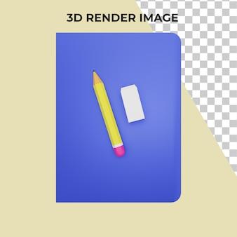 3d рендеринг канцелярских товаров премиум psd