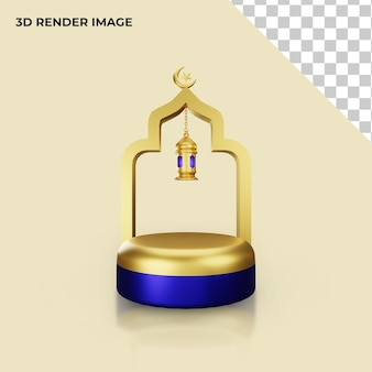 이슬람 개념 연단의 3d 렌더링