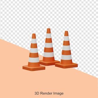 3d-рендеринг дорожного конуса
