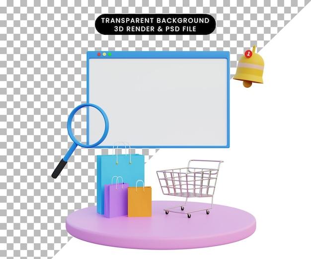 3d 렌더링 온라인 상점 광고