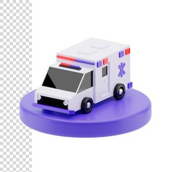 3d-рендеринг или иллюстрация скорая помощь