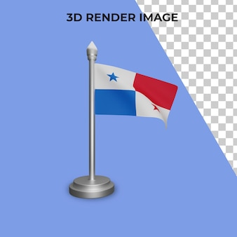 3d rendering of panama flag concept panama national day