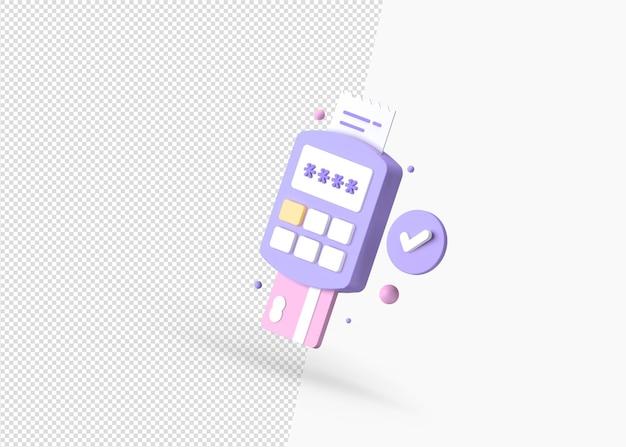 Сделано 3d-рендеринг способов оплаты изолированная концепция премиум-класса