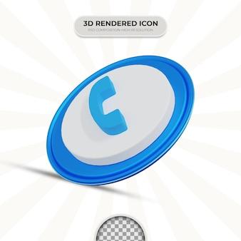 Значок телефона 3d-рендеринга