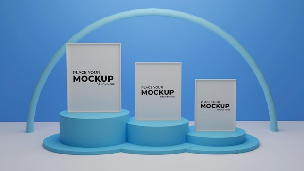 3d-rendering photo-frame -mockup