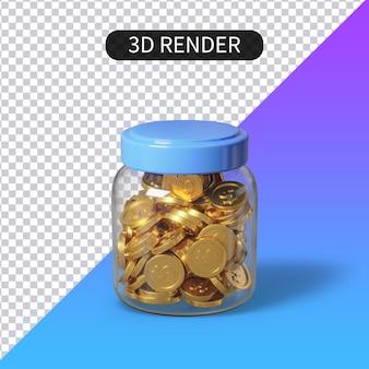 3d rendering piggy bank saving money isolated