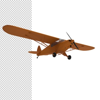 3d rendering of plane isolated